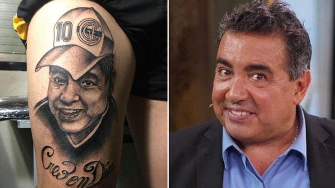Un hincha de Gimnasia se tatuó a Maradona, se parece a Diego Pérez y estallaron los memes