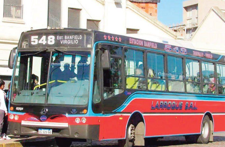 Lomas de Zamora: adjudicaron el servicio de la línea 548 a la empresa Autobuses Buenos Aires