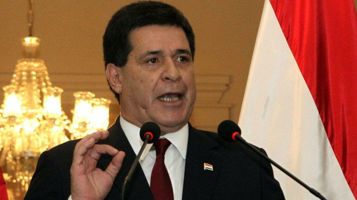 Brasil emitió una orden de detención contra el ex presidente de Paraguay, Horacio Cartes, por corrupción