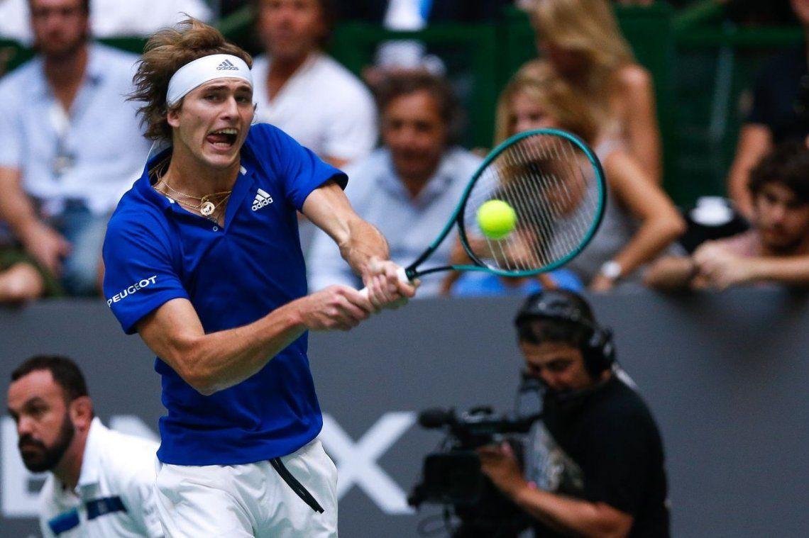 Alexander Zverev le ganó en dos sets a Roger Federer en una exhibición en Buenos Aires