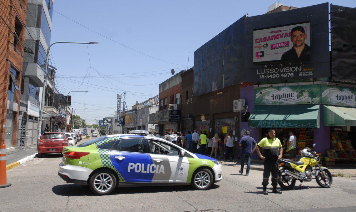 La protesta se llevó a cabo en horas del mediodía