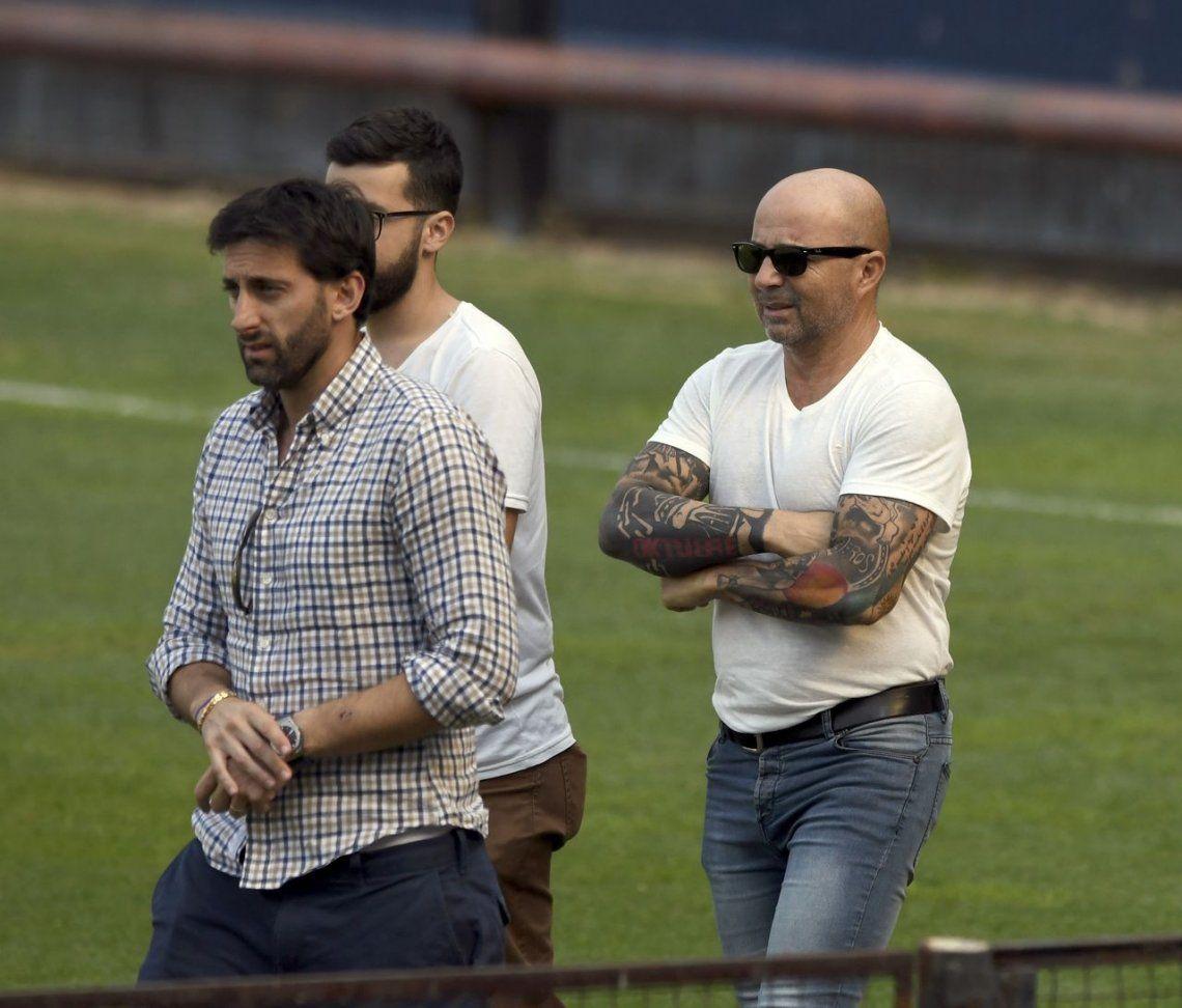Sampaoli se reunió con Diego Milito y no descarta dirigir a Racing