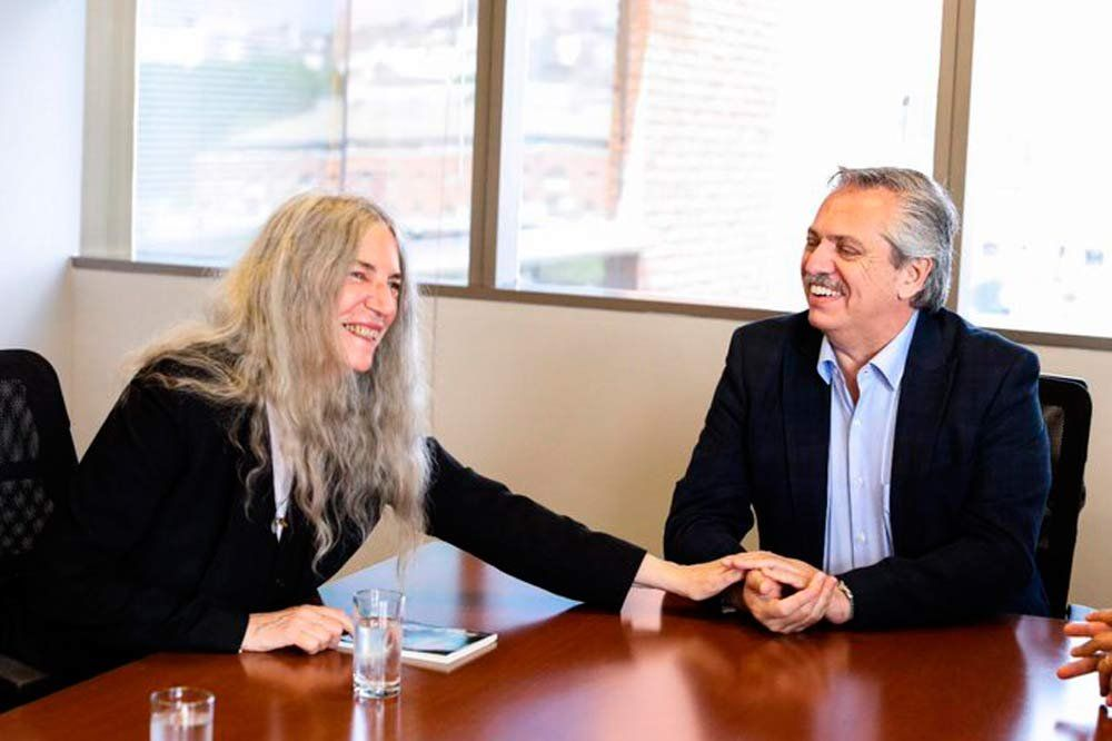Alberto Fernández recibió a la cantante y activista por el medio ambiente Patti Smith