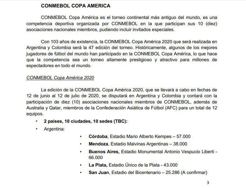 Copa América 2020: cuáles serán los estadios dónde se jugará en Argentina
