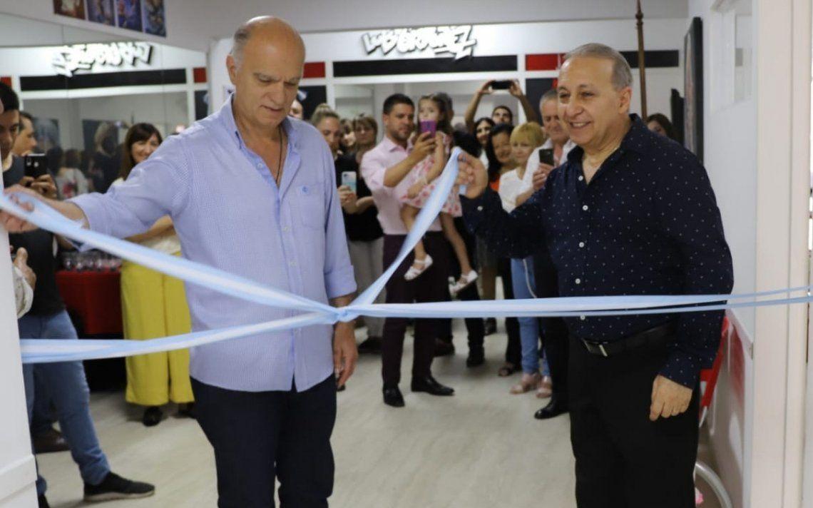 Lanús: Luis Ordoñez, en la inauguración de la remodelación de su escuela de dibujo