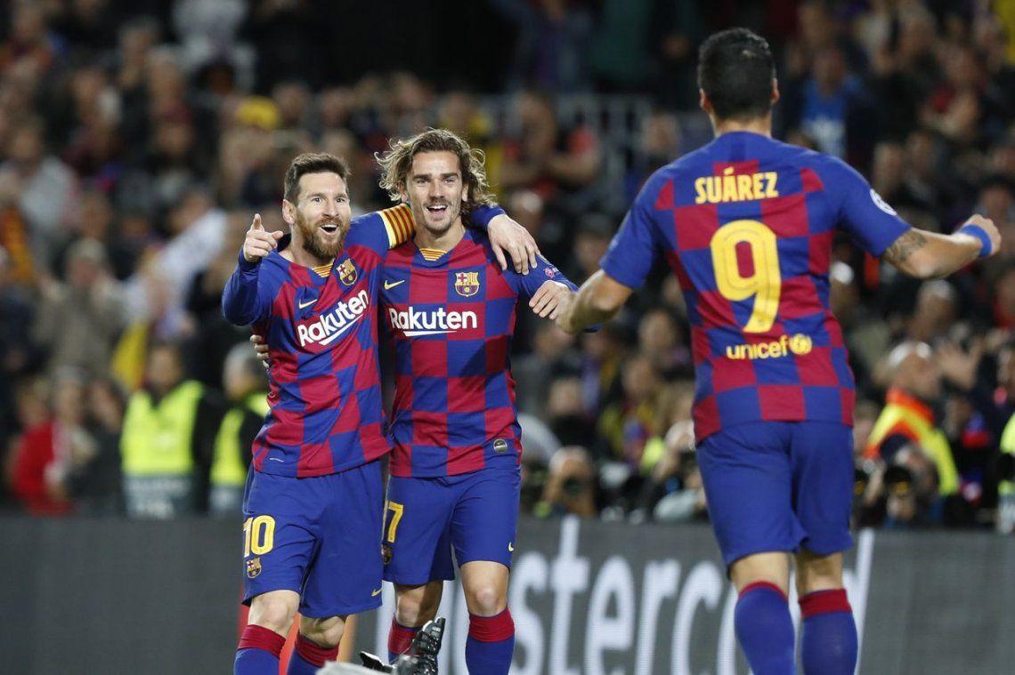 Champions League | Lionel Messi la rompió en su partido 700 con la camiseta de Barcelona: un gol y dos asistencias para Luis Suárez y Antoine Griezmann