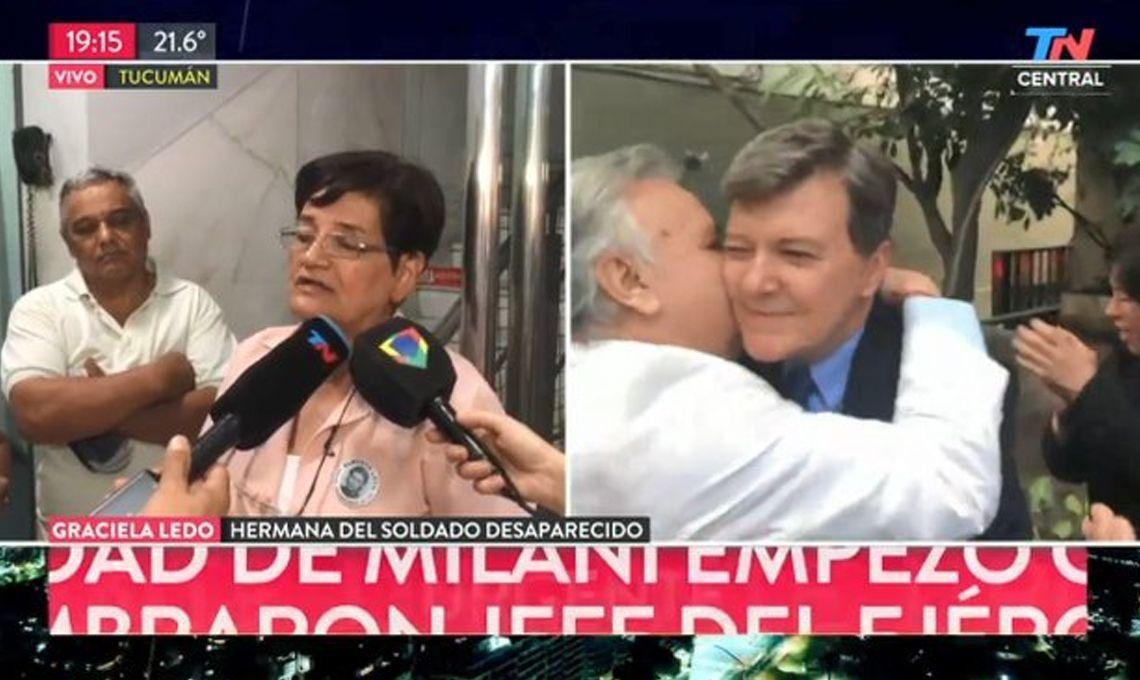 Graciela Ledo sobre la absolución de César Milani: La sentencia es vergonzosa
