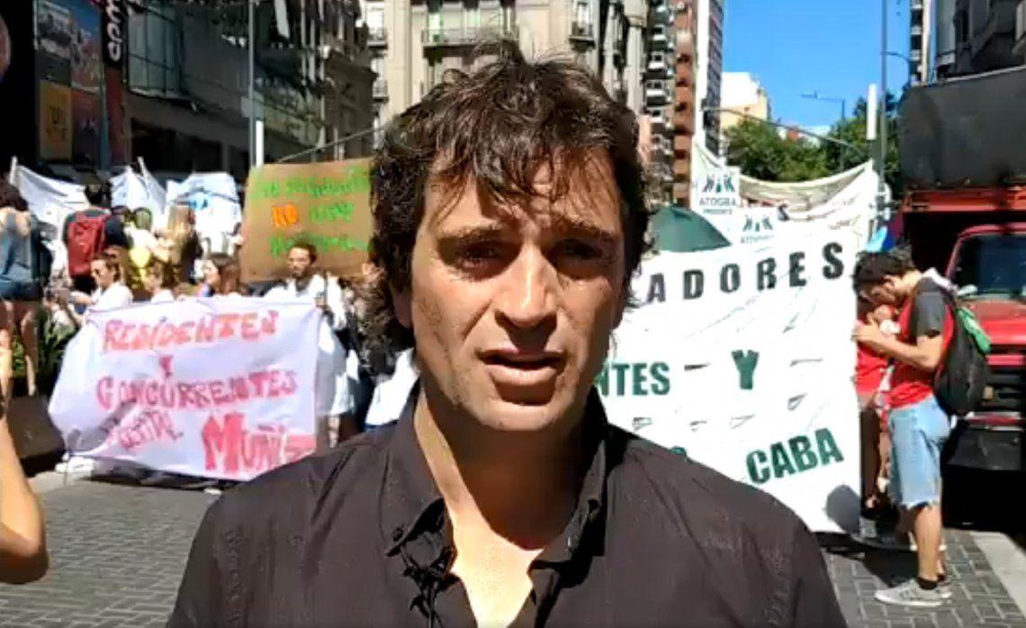 Gabriel Solano criticó el nuevo régimen para médicos residentes en la Ciudad: Si a un Diputado se le paga 35 mil pesos por 64 horas semanales acá no queda nadie