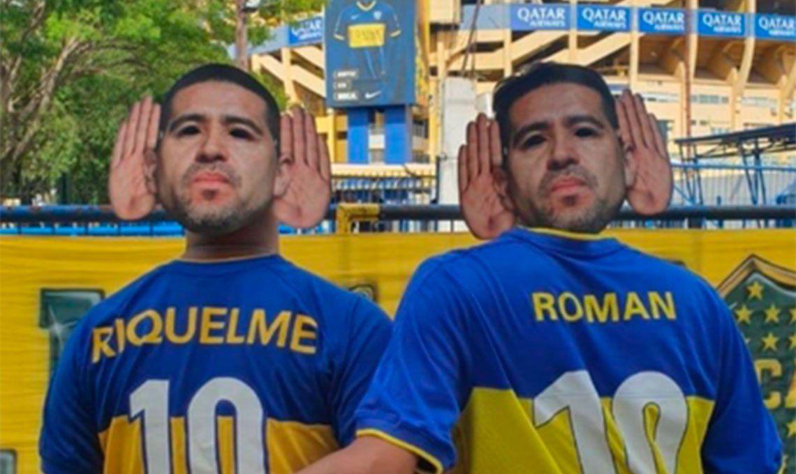 Prohibieron a los hinchas ingresar con caretas de Juan Román Riquelme a la Bombonera