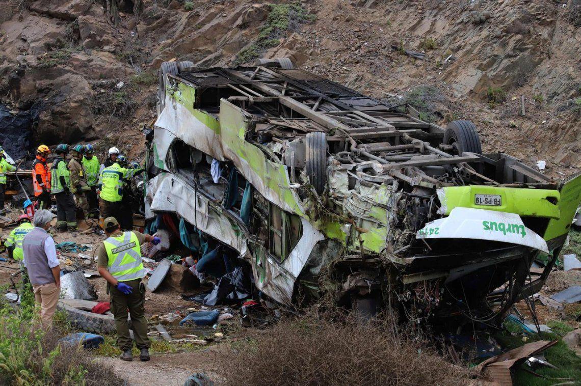 Chile: al menos 21 muertos tras desbarrancar un ómnibus