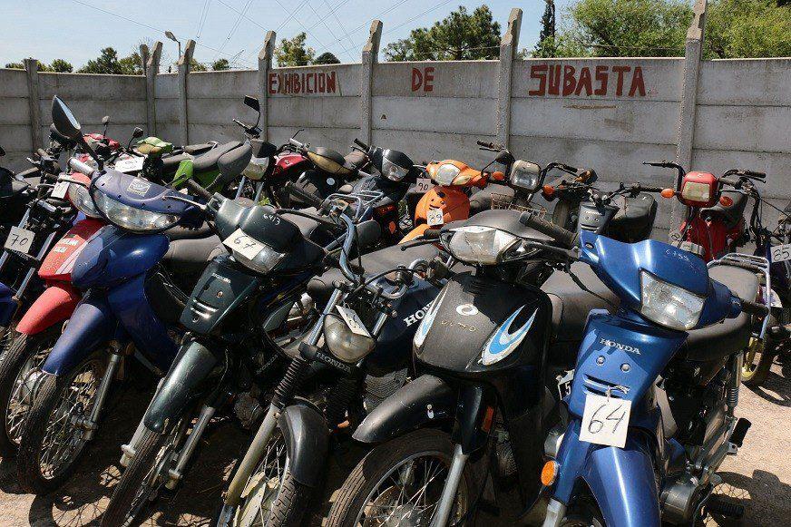 Un nuevo remate de motos organizado por el municipio de Berazategui.