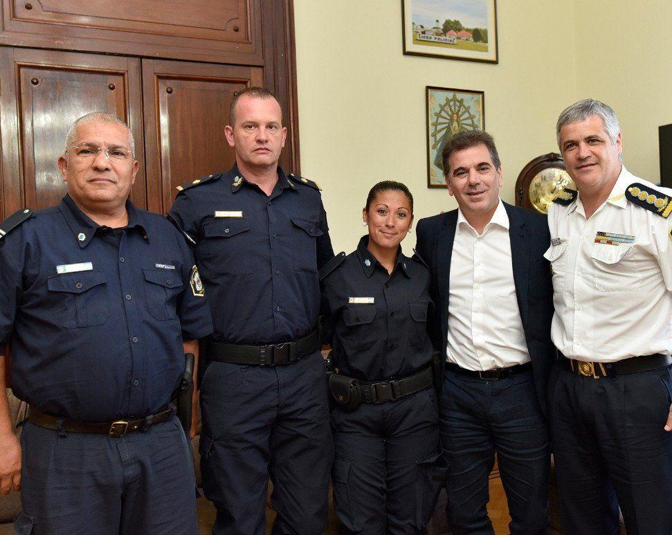 La oficial fue recibida por las autoridades del Ministerio de Seguridad.