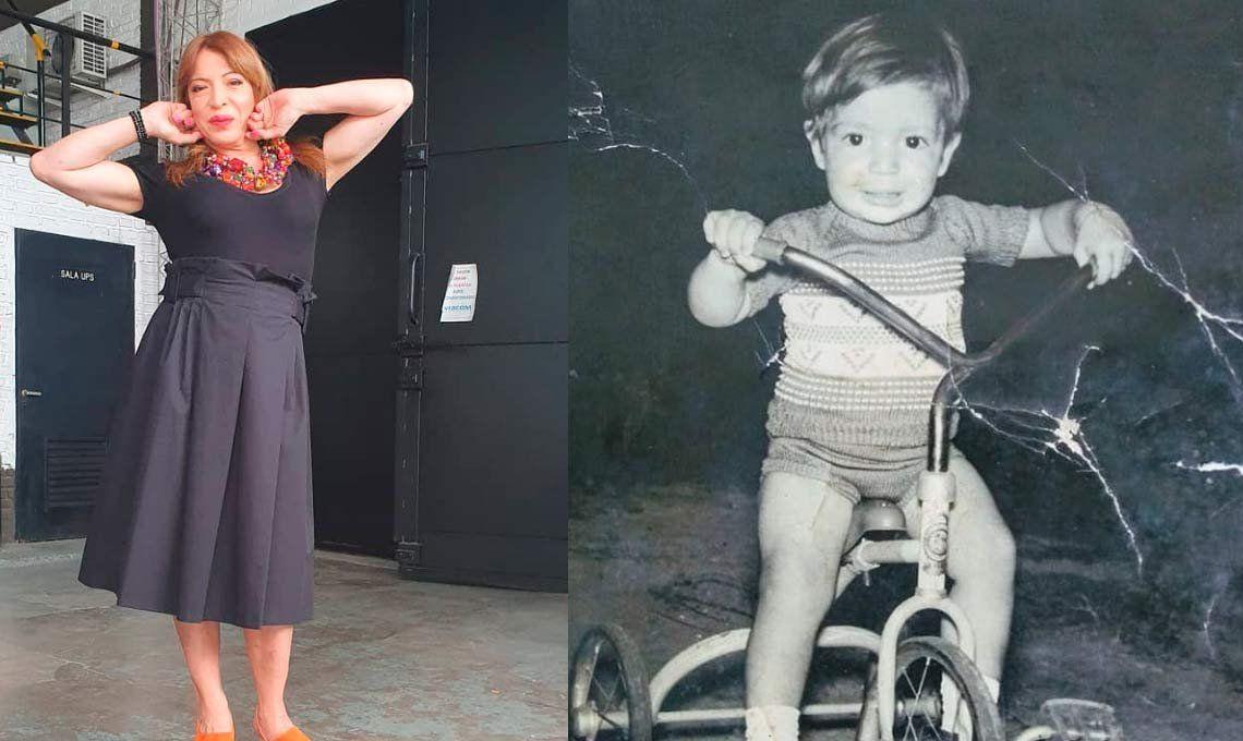 Lizy Tagliani compartió una tierna foto de su infancia: Fui un niño muy feliz