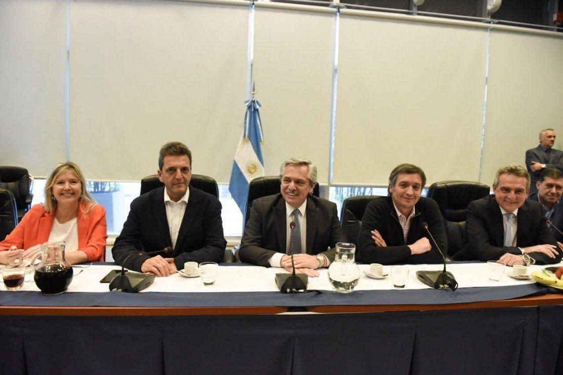 Alberto Fernández se reunió con Máximo Kirchner, Sergio Massa y otros legisladores