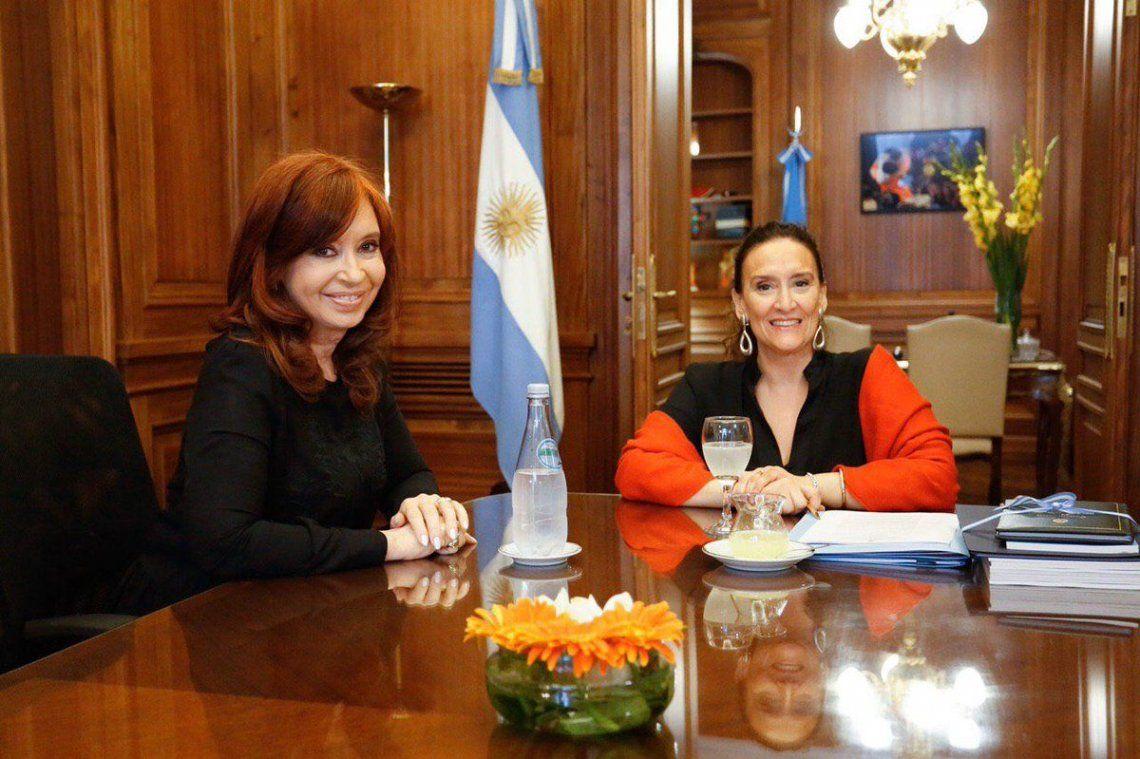Cristina Kirchner se reunió con Gabriela Michetti y los senadores del Frente de Todos