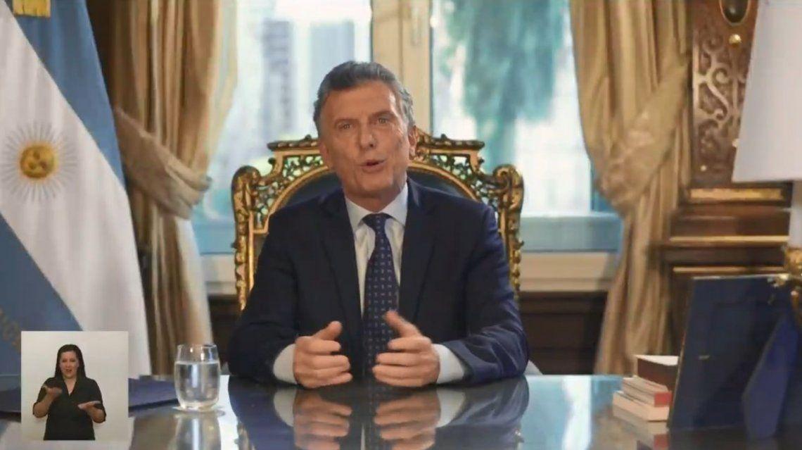 Macri por cadena nacional: En estos 4 años hubo muchas dificultades que no pudimos resolver