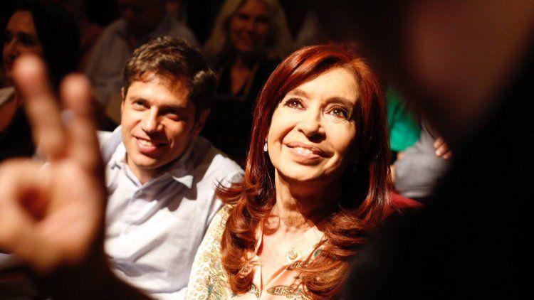 Cristina y Kicillof en la presentación de Tierra Arrasada, el documental de Tristán Bauer