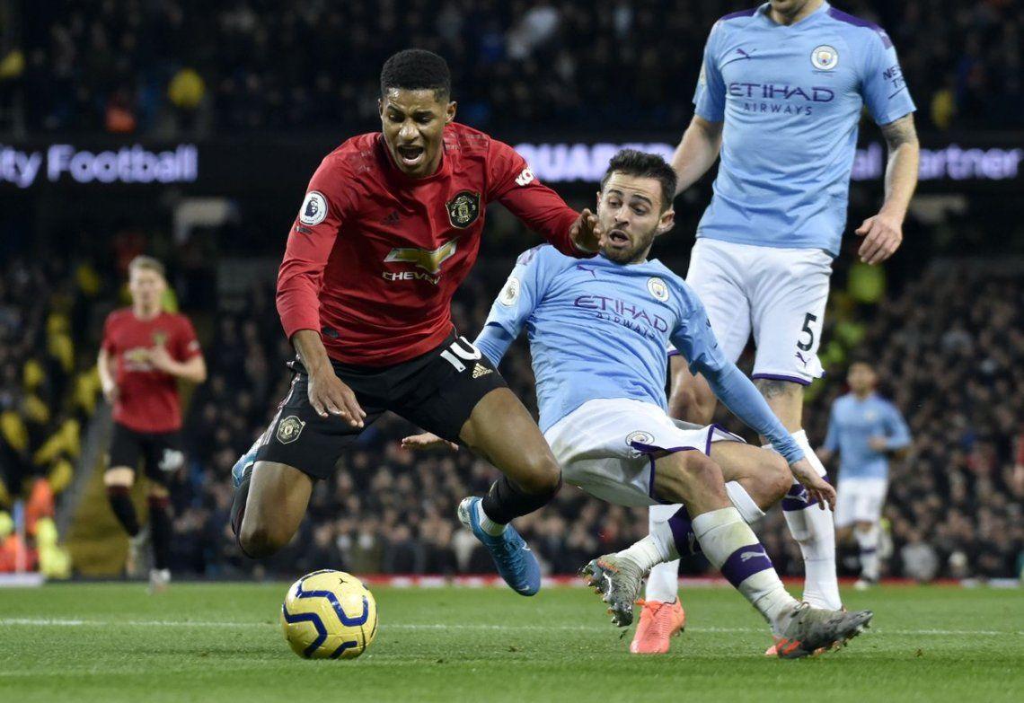 Clásico de Manchester: el United se impuso con goles de Rashford y Martial que le quitaron brillo al tanto de Otamendi para el City