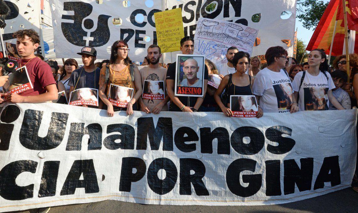 Hubo numerosas marchas para pedir justicia por Gina.