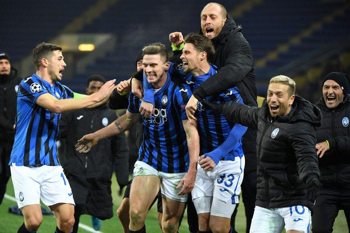 Champions League: Atalanta logró el milagro y clasificó a la siguiente ronda en un polémico partido