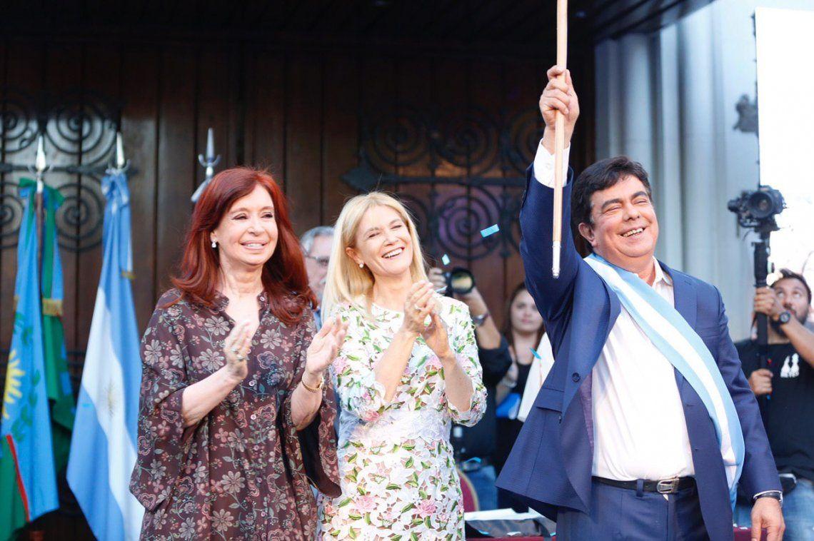 La Matanza: Cristina Kirchner asistió a la jura de Fernando Espinoza como intendente
