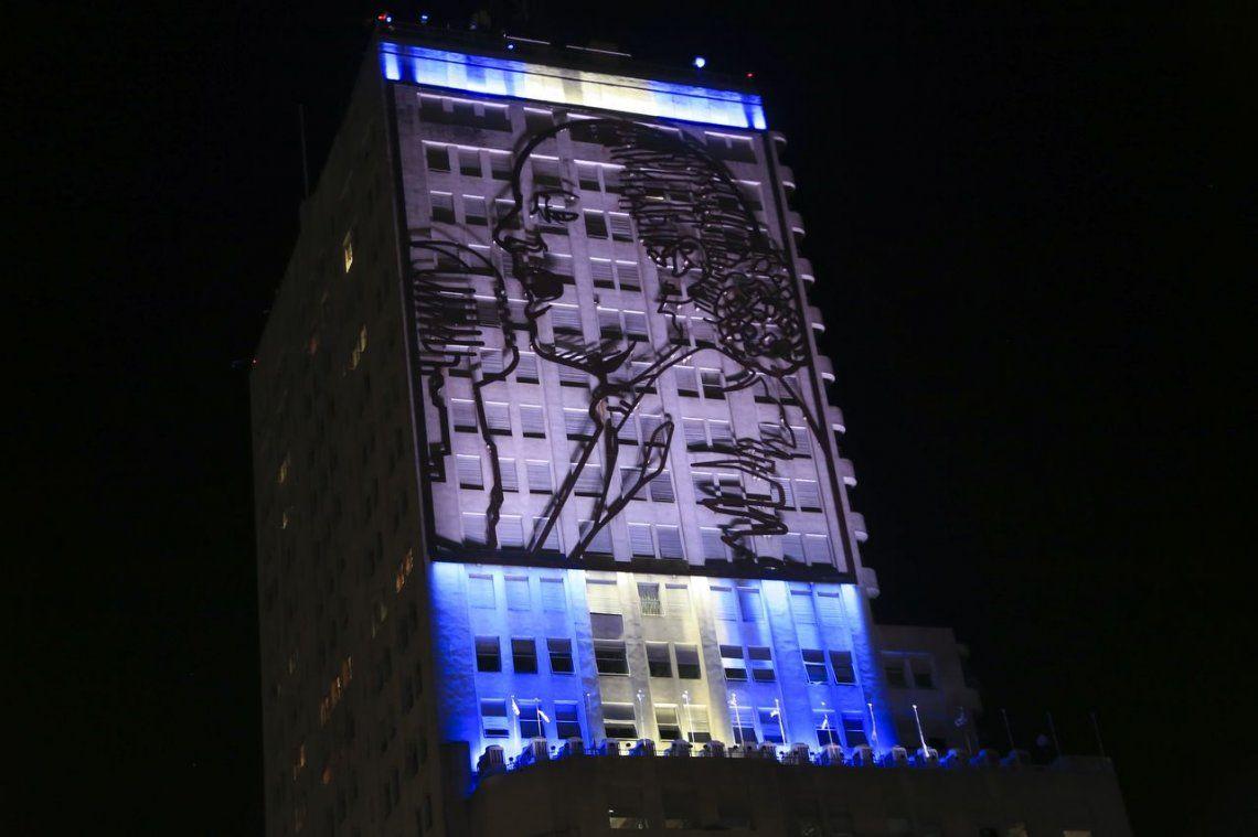 Evita volvió a brillar en el edificio de Desarrollo Social con un acto en conjunto con trabajadores y ministros