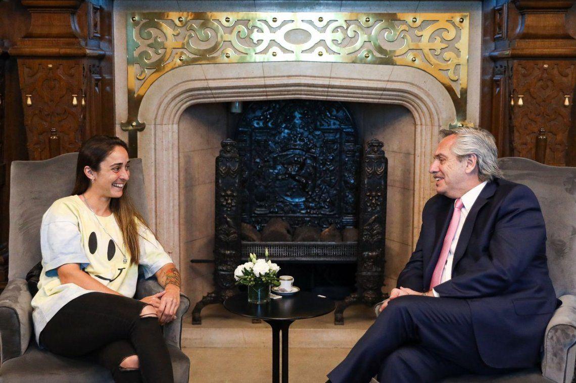 Alberto Fernández recibió a Maca Sánchez, que estará al frente del Instituto de Juventud