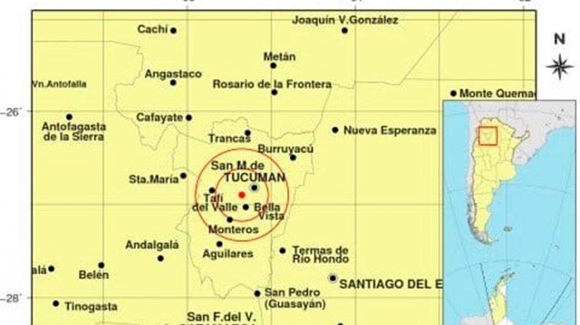 Un sismo de 4,7 grados sacudió Tucumán