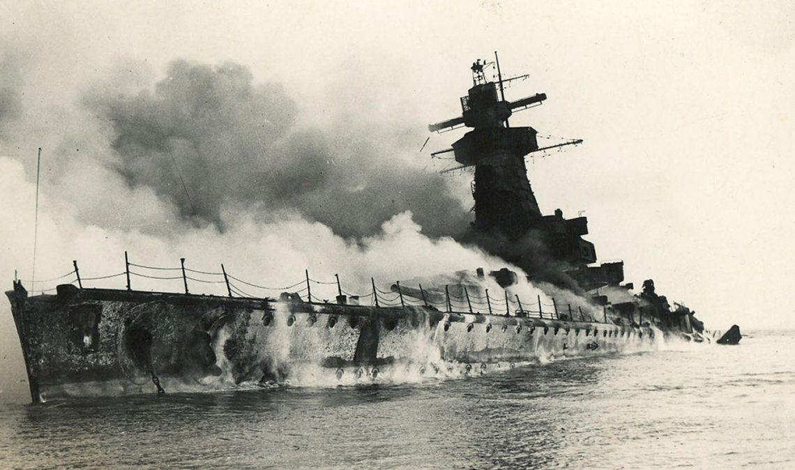 El ataque contra el Graf Spee.