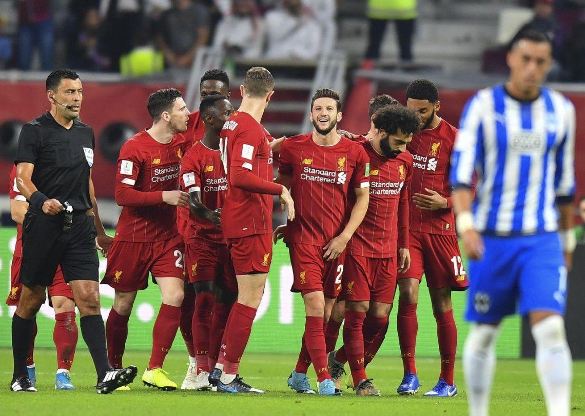Liverpool venció a Monterrey en el último minuto, y es finalista del Mundial de Clubes