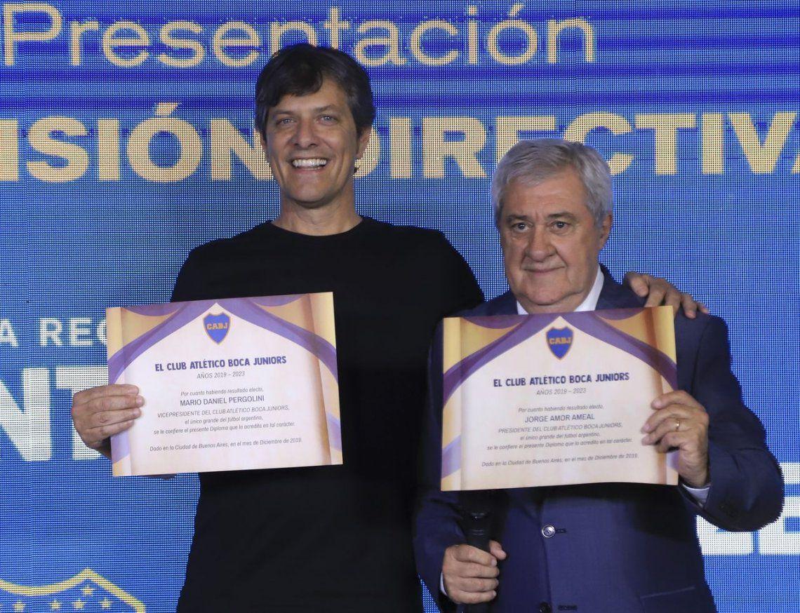 Ameal y Pergolini comenzaron oficialmente su gestión en Boca