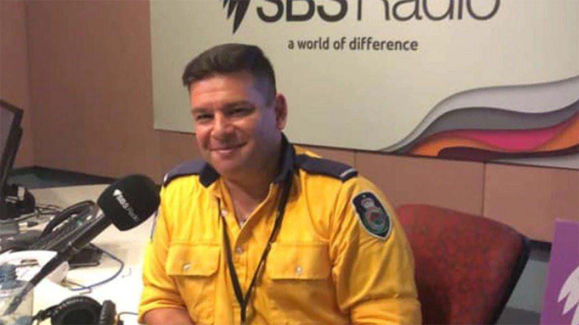 Xavier Cerbelli, el bombero argentino que pasa Navidad combatiendo incendios en Australia