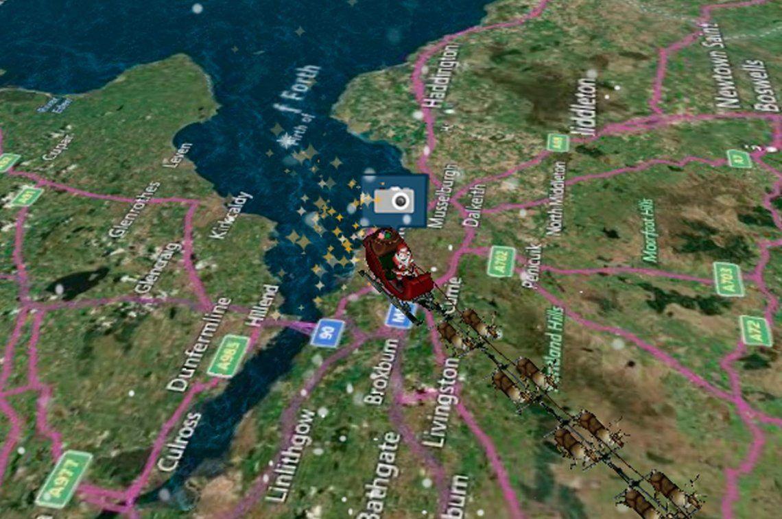 Navidad: mirá cómo seguir en vivo el recorrido de Papá Noel