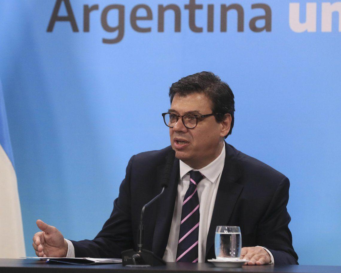 El ministro Claudio Moroni fue el encargado de realizar el anuncio y se espera uno similar para los estatales.