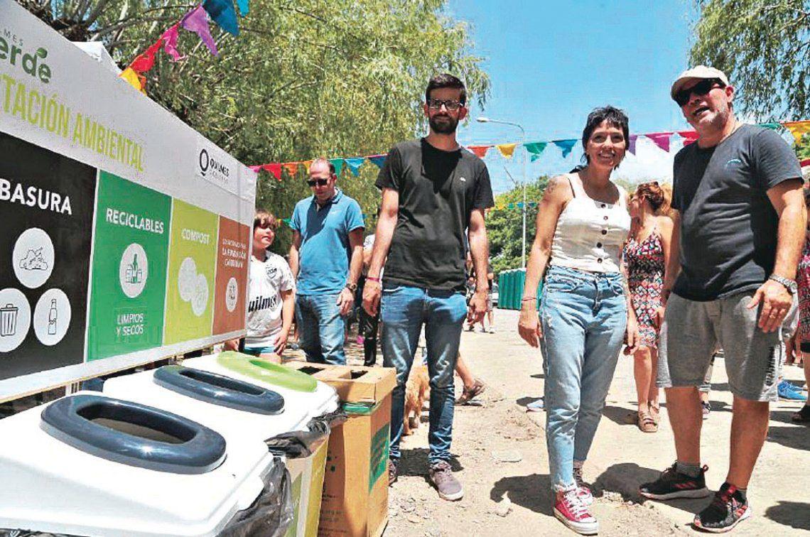 Se les brindó a los visitantes información sobre la separación de residuos.