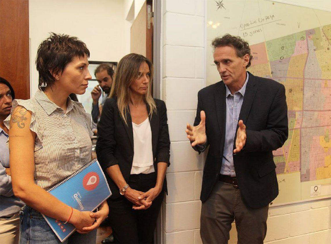 Quilmes: Mayra Mendoza recibió a Gabriel Katopodis y Malena Galmarini