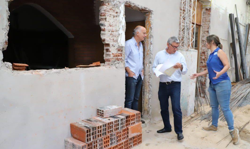 Recorrida de Grindetti por las obras junto al secretario de Desarrollo Urbano.