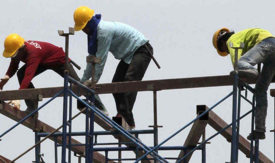 La industria de la construcción registró una caída del 6
