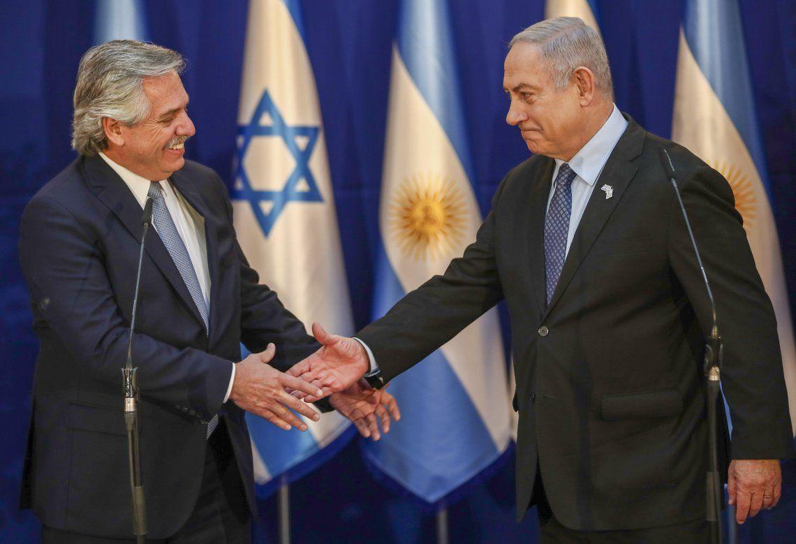 Fernández y Netanyahu ayer