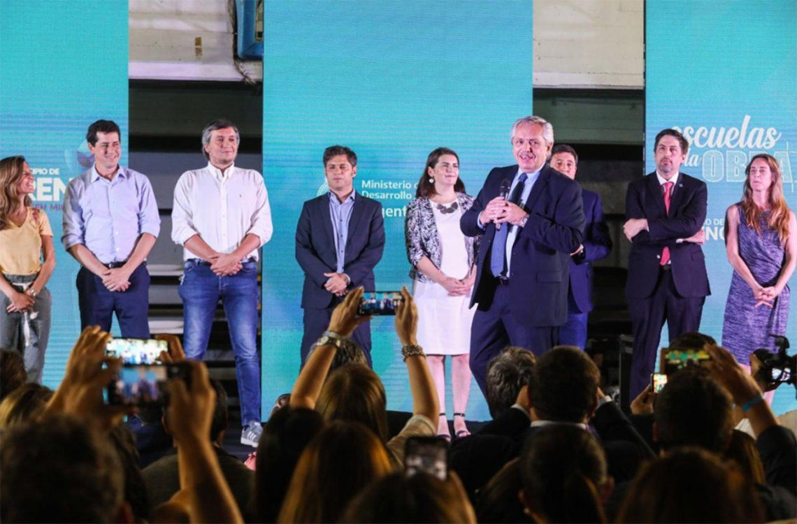 Alberto Fernández participó del lanzamiento del programa nacional Argentina Unida por Educación y Trabajo