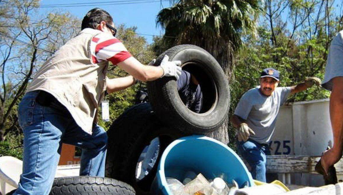 Personal de las comunas procura retirar elementos que sirvan a la proliferación de mosquitos.