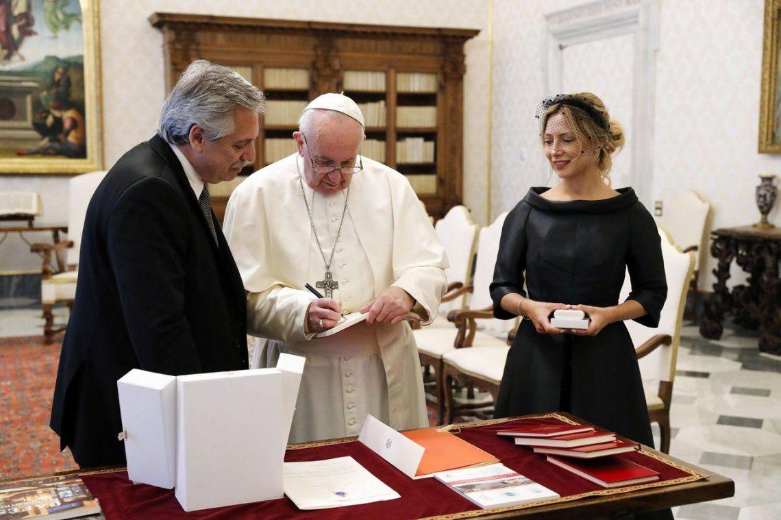 Fotos: la reunión del Alberto Fernández y Fabiola Yañez con el Papa Francisco