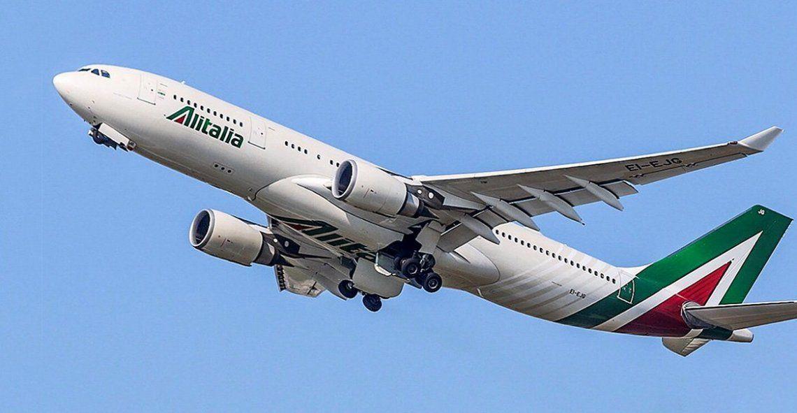 Un pasajero murió durante un vuelo de un avión de Alitalia que venía a Buenos Aires