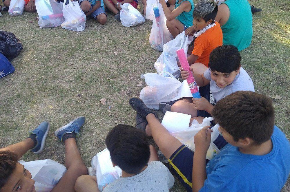 Los chicos disfrutaron de actividades especiales por las vacaciones.