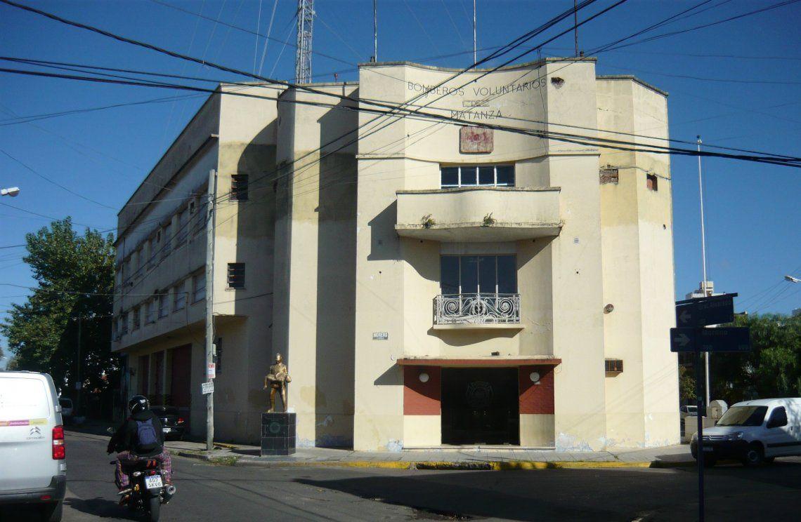 El cuartel central de Bomberos Voluntarios de La Matanza