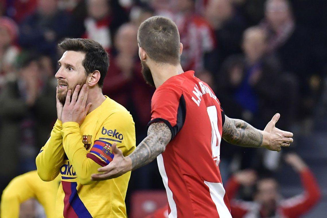 Messi se queda sin Copa del Rey: Barcelona fue eliminado por Athletic Bilbao