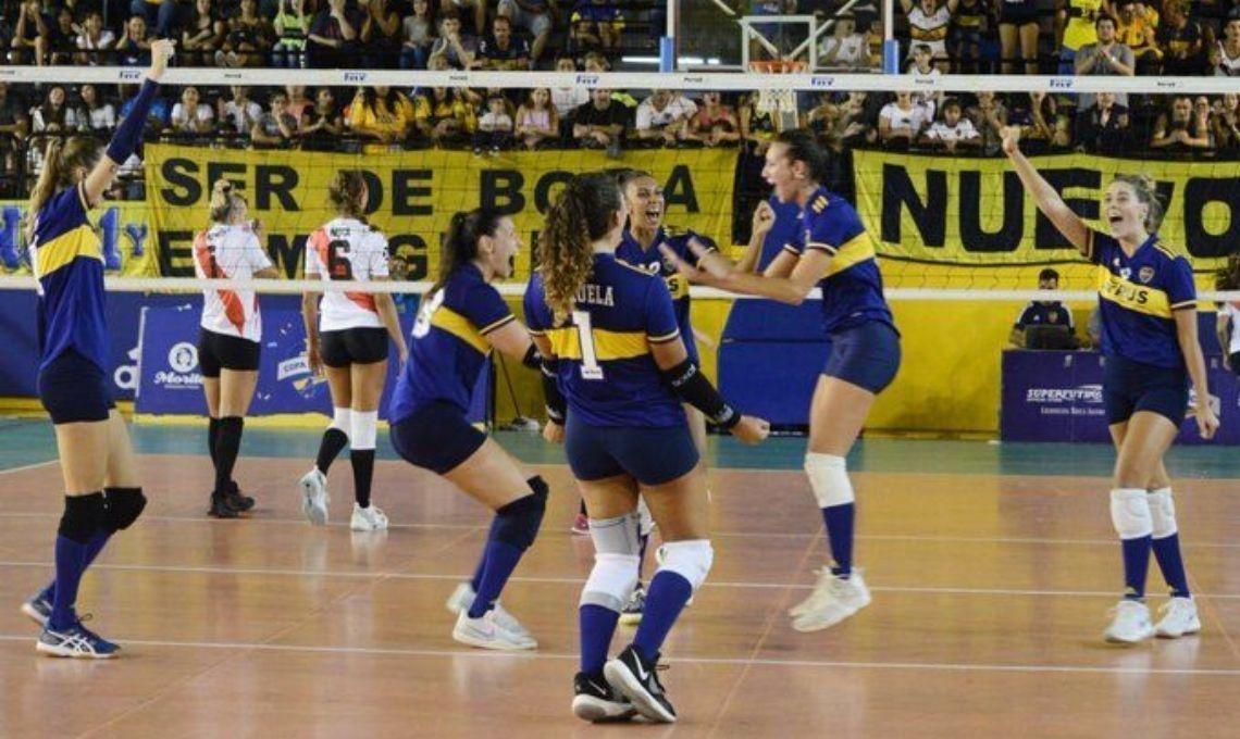 Superclásico de vóley femenino: Boca se lo dio vuelta a River, acumula su cuarto triunfo consecutivo y sigue puntero