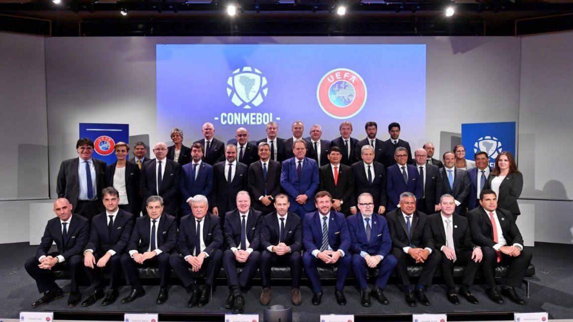 Conmebol y UEFA pautaron una agenda propia