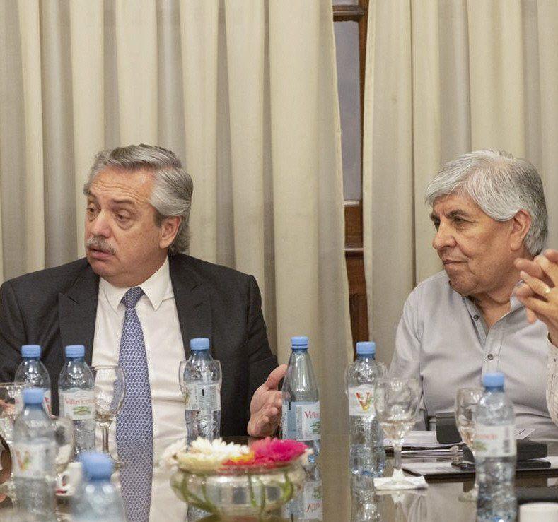 Fernández recibió fuera de agenda al sindicalista de Camioneros.