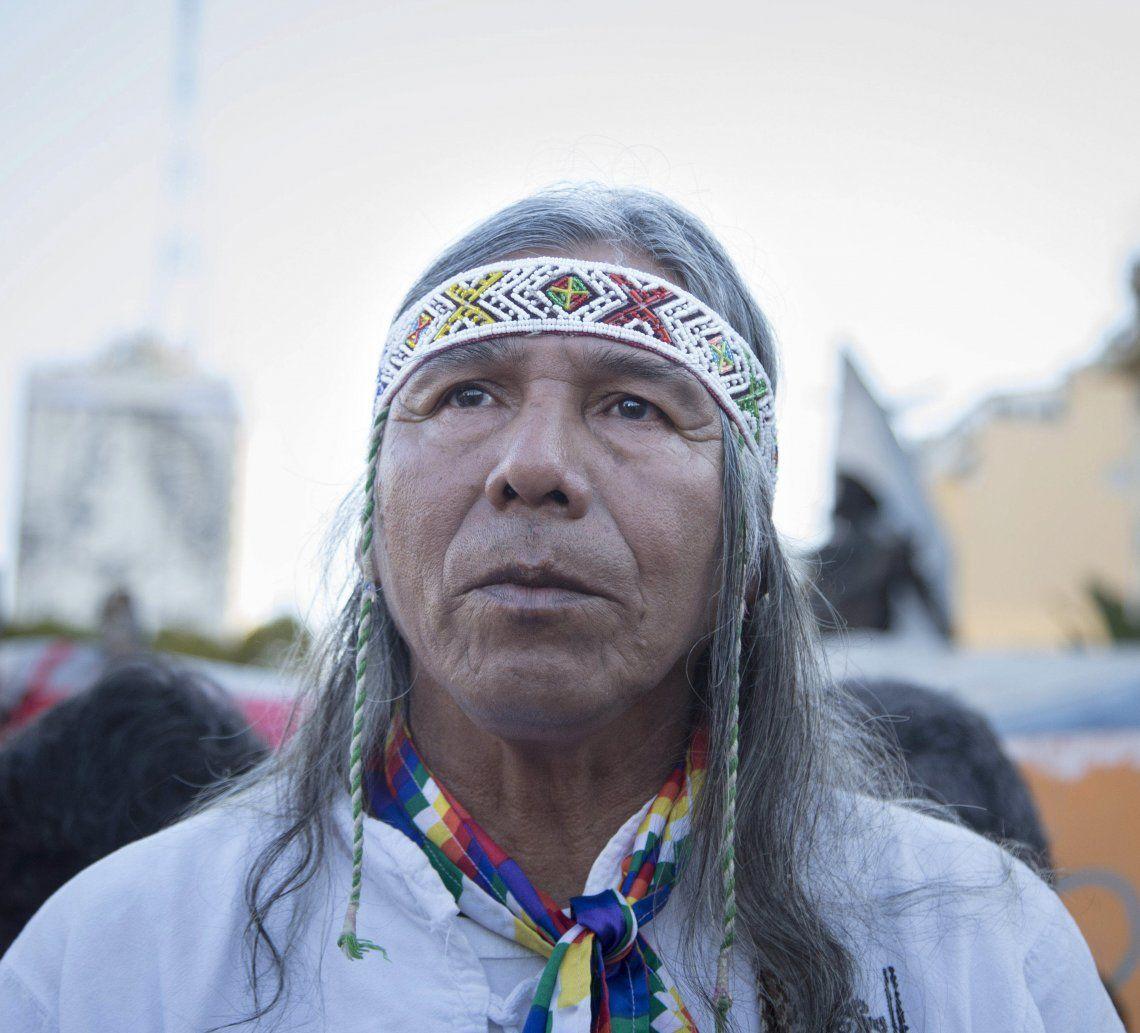 Félix Díaz presidente del Consejo de Pueblos indígenas.